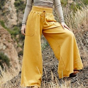 NWT Free People Upbeat Wide Leg Pant Meadowsweet S
